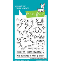 Lawn Fawn - Furry and Bright - Clear Stamp 3x4