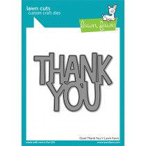 Lawn Fawn - Giant Thank You - Stand Alone Stanze