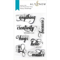 Altenew - Fancy Greetings - Clear Stamps 4x6