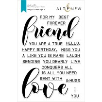 Altenew - Mega Greetings 3 - Clear Stamp 6x8