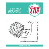 Avery Elle - Peacock - Clear Stamp 2x3