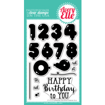 Avery Elle Clear Stamp Set 4x6 - Numbered Balloons