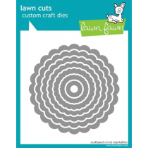 Lawn Fawn - Lawn Cuts - Scalloped Circle Stackable