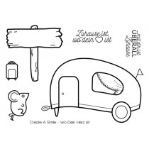 Create A Smile - Wo Dein Herz Ist - Clear Stamps 3x4