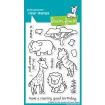 clearstamp - lawnfawn - critters in the savanna