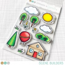 Create A Smile - Scene Builders - Clear Stamps 4x6