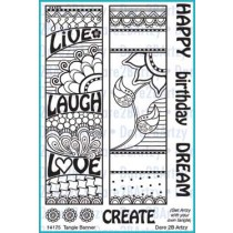 "Dare 2 B Artzy - Stempelset 4x6"" - Tangle Banner"