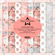 Paper Favourites - Coral and Grey - Paperpad 6x6