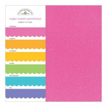 Doodlebug Bright Sugar Coated 6x6 Assortment Pack