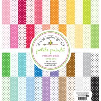 Doodlebug Petite Prints Rainbow Pack Swiss Dot