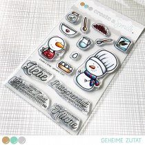 Create A Smile - Geheime Zutat - Clear Stamps 4x6