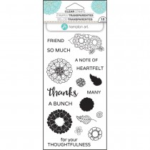 Hampton Art - Flower Thanks - Clear Stamps 4x8