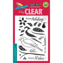 """Hero Arts Clear Stamps 4""""X6"""" - Color Layering Dimensional Bird"""