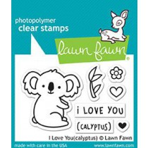 Lawn Fawn - I Love You(calyptus) - Clear Stamps 2x3