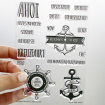 Klartext-Stempel - Ahoi - Clear Stamp Set 4x6