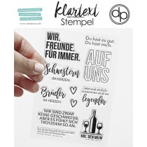 Klartext-Stempel - Auf Uns - Clear Stamp Set 4x6
