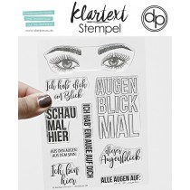 Klartext-Stempel - Augenblick - Clear Stamp Set 4x6