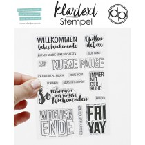 Klartext-Stempel - FRI-YAY - Clear Stamp Set 4x6