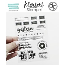 Klartext-Stempel - Gestern - Clear Stamp Set 4x6