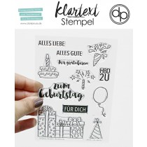 Klartext-Stempel - HBD 2U - Clear Stamp Set 4x6