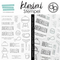 Klartext-Stempel - Lust auf Grillen - Clear Stamp Set 4x6