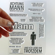 Klartext-Stempel - Mann-Oh-Mann - Clear Stamp Set 4x6