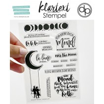 Klartext-Stempel - Mond - Clear Stamp Set 4x6