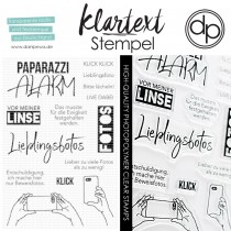 Klartext-Stempel - Paparazzi - Clear Stamp Set 4x6