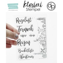 Klartext-Stempel - Reiselust - Clear Stamp Set 4x6