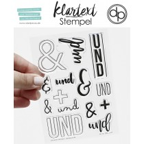 Klartext-Stempel - Und - Clear Stamp Set 4x6