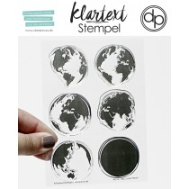 Klartext-Stempel - Unser Planet - Clear Stamp Set 4x6