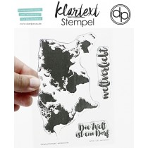 Klartext-Stempel - Weltverliebt - Clear Stamp Set 4x6