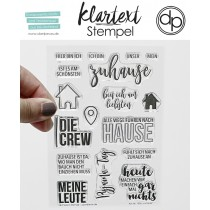 Klartext-Stempel - Zuhause - Clear Stamp Set 4x6