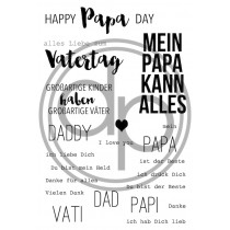 "Klartext-Stempelset A6 ""Happy Papa-Day"""