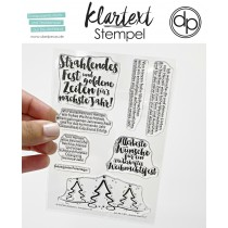 Klartext - Strahlendes Fest - Clear Stamp Set 4x6