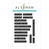Altenew -  Label Love Italian - Stempelset 4x6