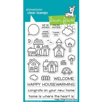 Lawn Fawn - Happy Village - Clear Stamps 4x6