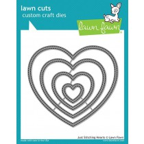 Lawn Fawn - just stitching hearts - Stanzen