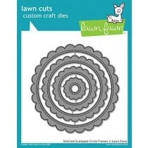 Lawn Fawn - Stitched Scalloped Circle Frames - Stanzen