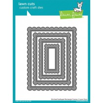 Lawn Fawn - Stitched Scalloped Rectangle Frames - Stanzen