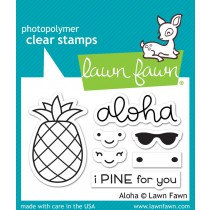 Lawn Fawn - Aloha - Clear Stamp 2x3