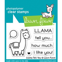 Lawn Fawn - Llama Tell You - Clear Stamp 2x3