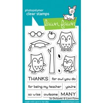 Lawn Fawn - So Owlsome - Clear Stamps 3x4