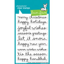Lawn Fawn - Winter Scripty  Sentiments - Clear Stamps 4x6