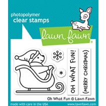 Lawn Fawn - Oh What Fun - Clear Stamps 2x3