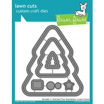 Lawn Fawn - Outside In Stitched Christmas Tree Stackables - Stanzen