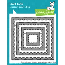 Lawn Fawn - Reverse Stitched Scalloped Square Windows - Stanzen