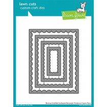 Lawn Fawn - Reverse Stitched Scalloped Rectangle Windows - Stanzen