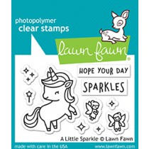 Lawn Fawn - A Little Sparkle - Clear Stamp 2x3