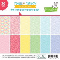 Lawn Fawn - Petite Paper Pack 6x6 - Really Rainbow Scallops